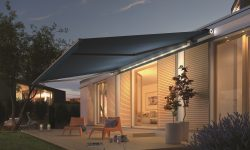 Livono awning with led light bar